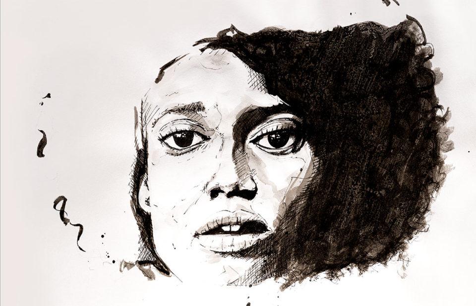 Portrait de femme - Dessin dans son intégralité
