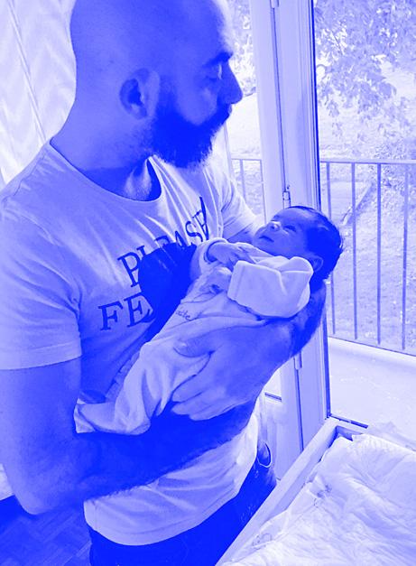 Photo de Matthieu et de sa fille