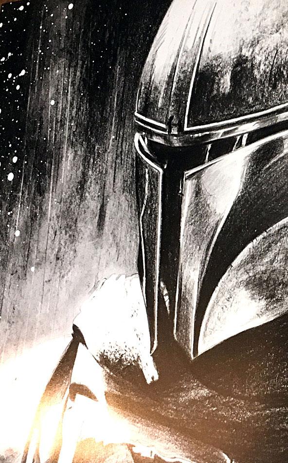 Le Mandalorian - Zoom sur une partie du dessin