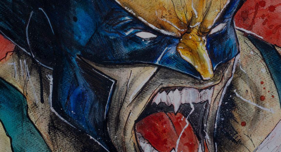 Wolverine - Zoom sur une partie du dessin