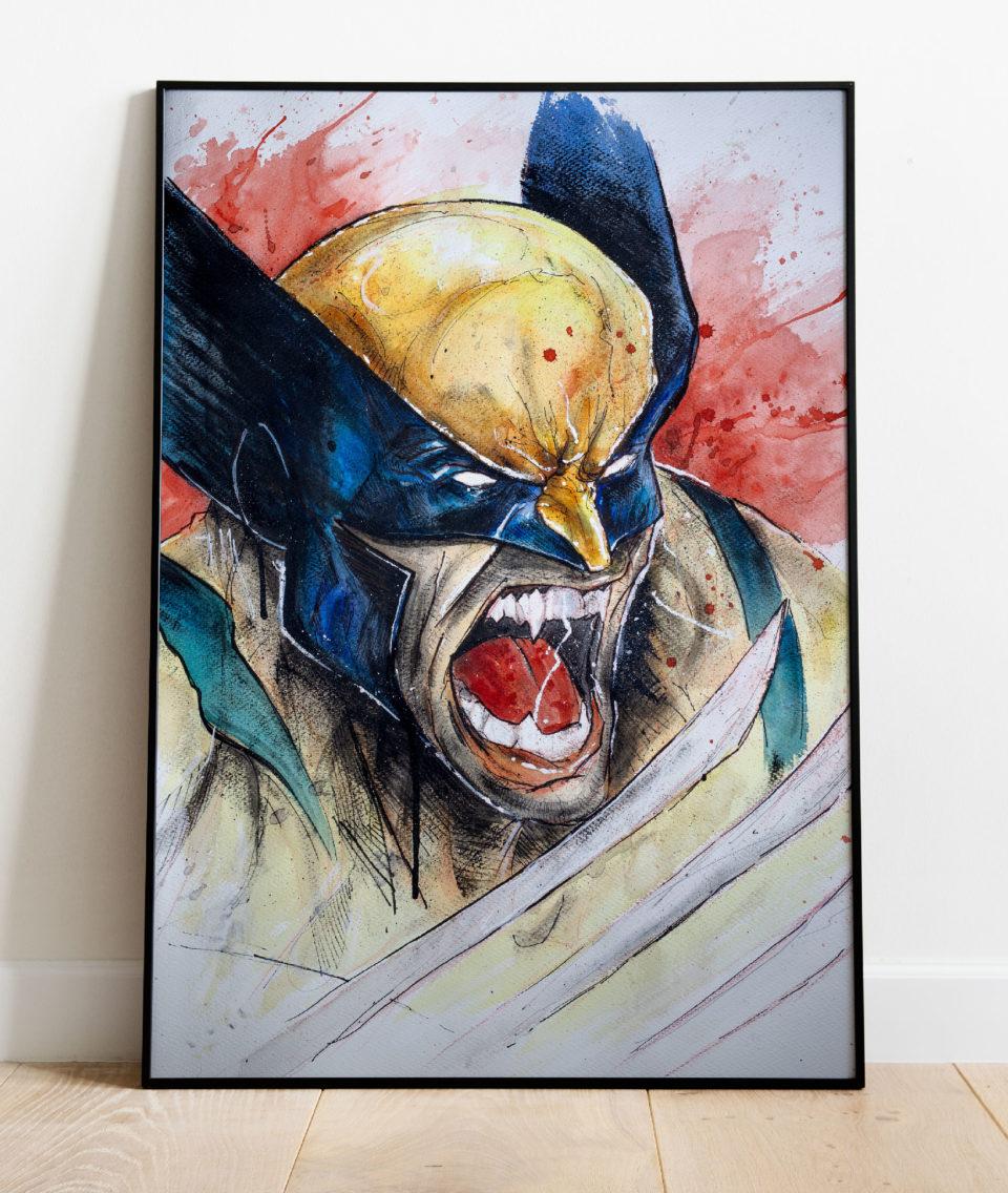 Wolverine - Mise en situation du dessin
