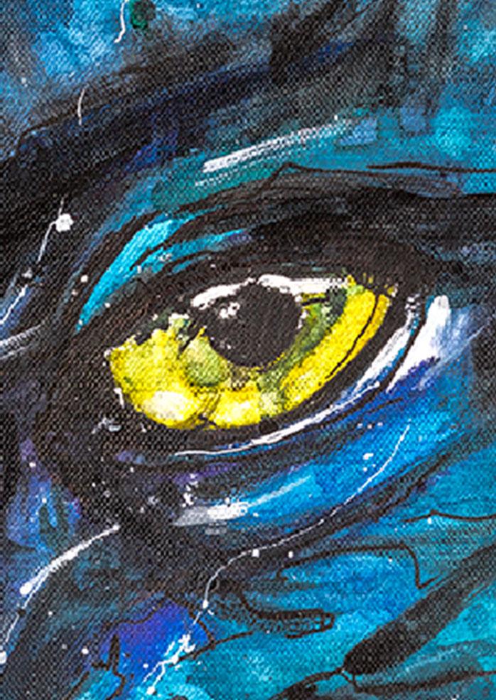 Omaticayas Na'vi - Zoom sur une partie du dessin