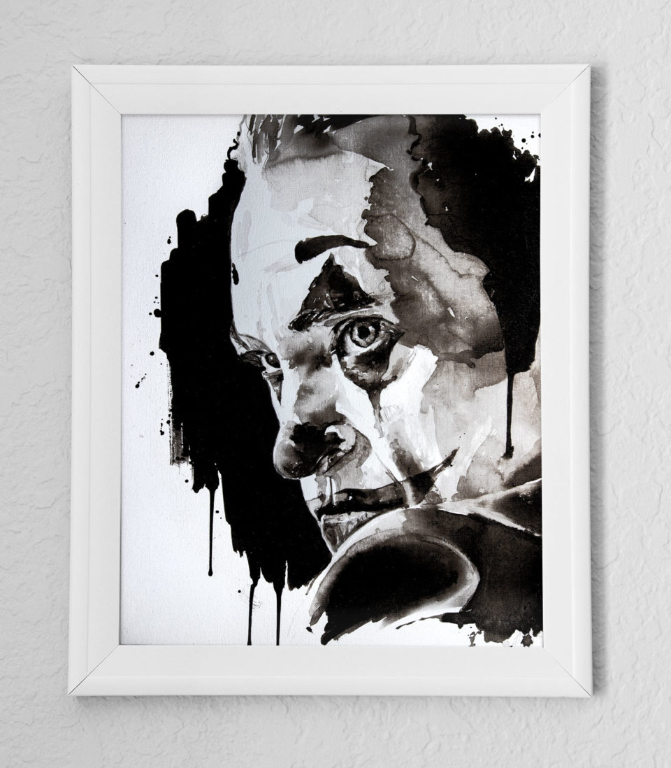Arthur Fleck Joker - Mise en situation du dessin